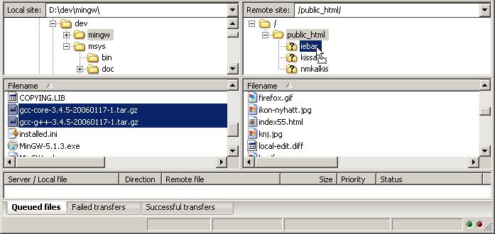 نرم افزار filezilla