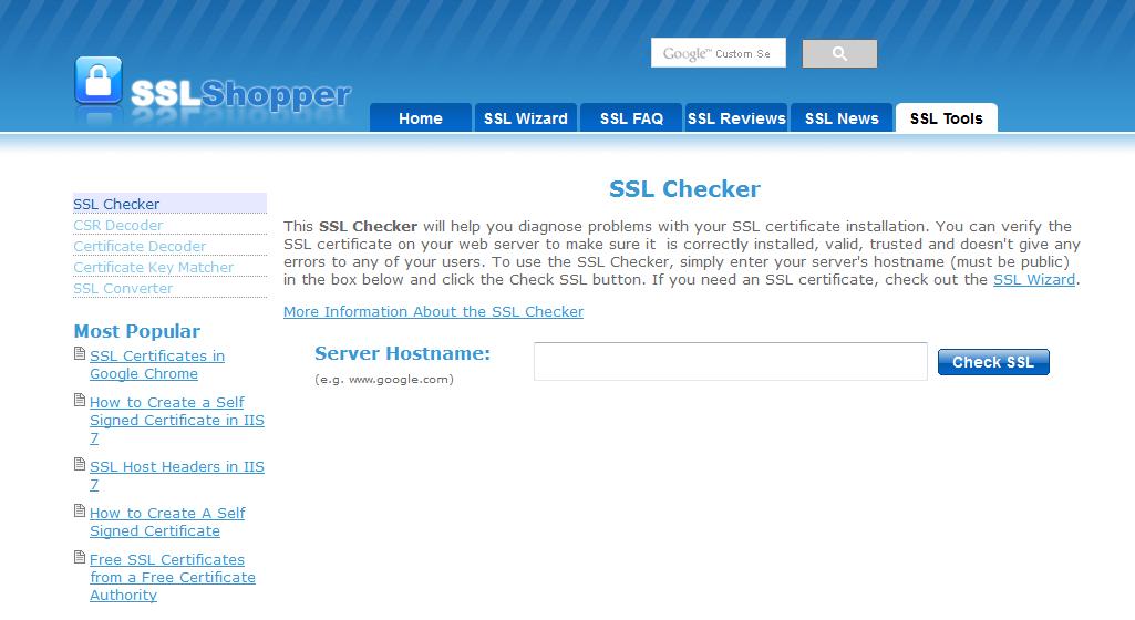 بررسی صحت ssl یک سایت