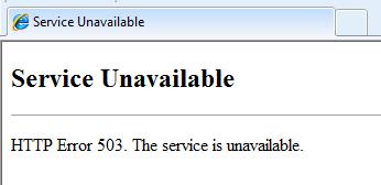 خطا ۵۰۳ Service Unavailable