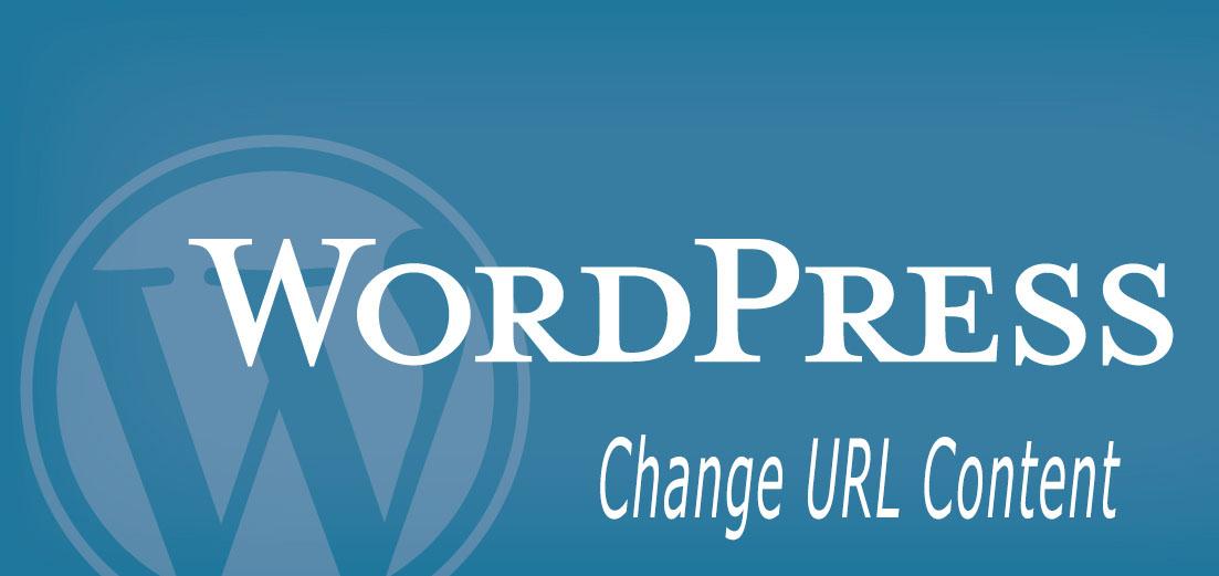 آموزش تغییر لینک در محتوای مطالب وردپرس